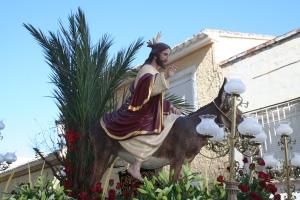 """ENTRADA TRIUNFAL DE JESÚS EN JERUSALEM. """"LA BURRICA"""""""